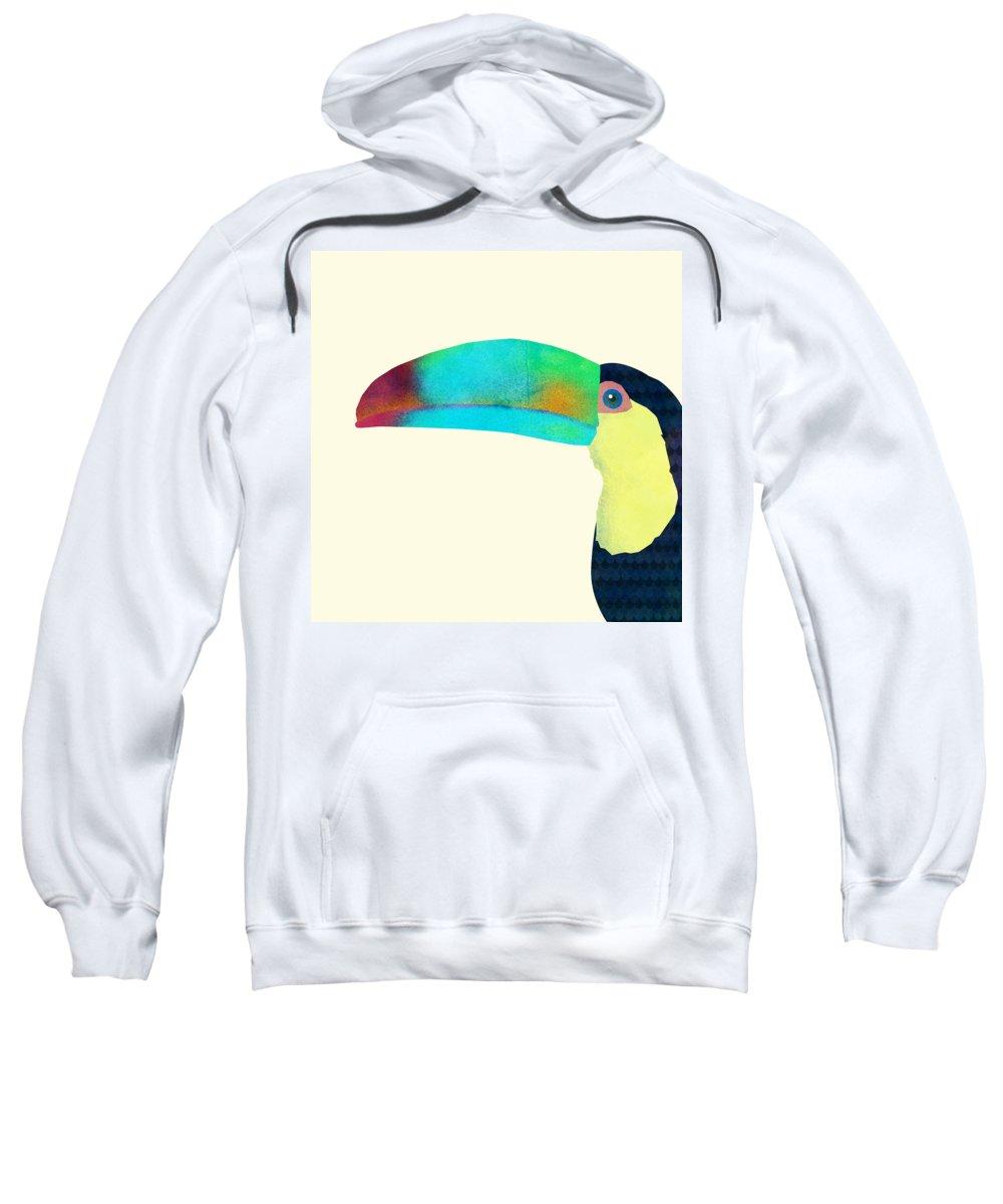 Bird Sweatshirt featuring the drawing Toucan by Eric Fan