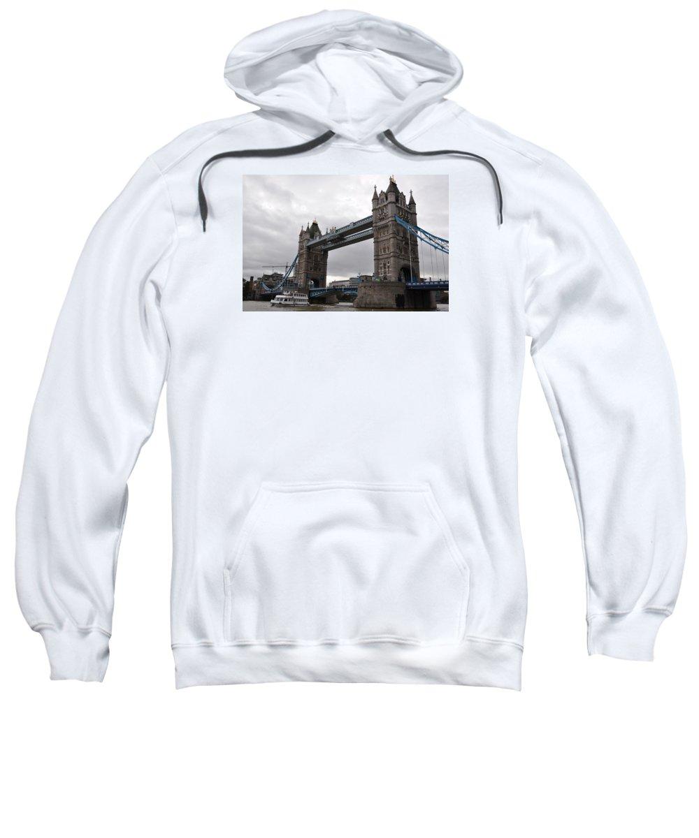 Tower Bridge Sweatshirt featuring the photograph Tower Bridge London by Laura Lowrey