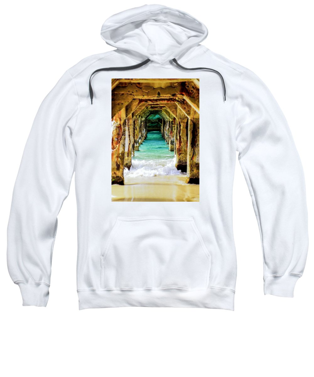 Waterscapes Sweatshirt featuring the photograph Tranquility Below by Karen Wiles