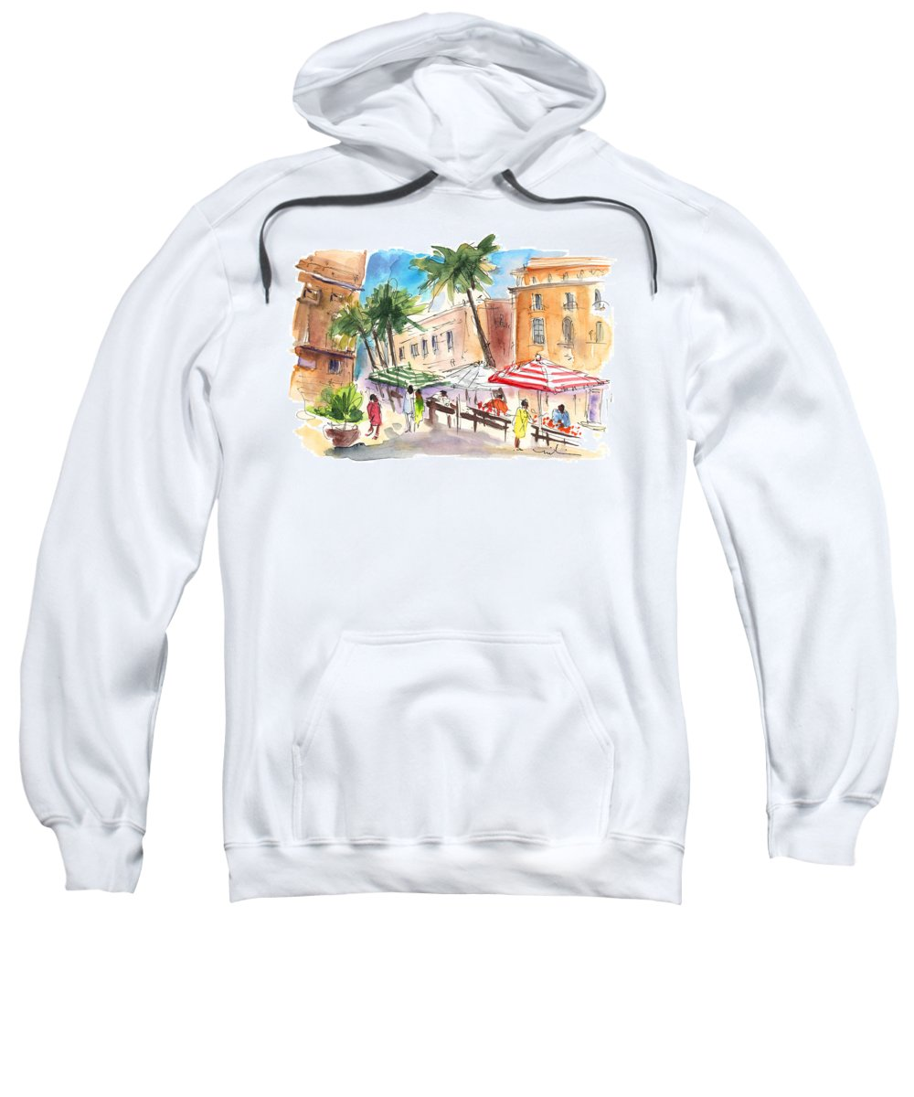 Travel Sweatshirt featuring the painting Trapani 03 by Miki De Goodaboom