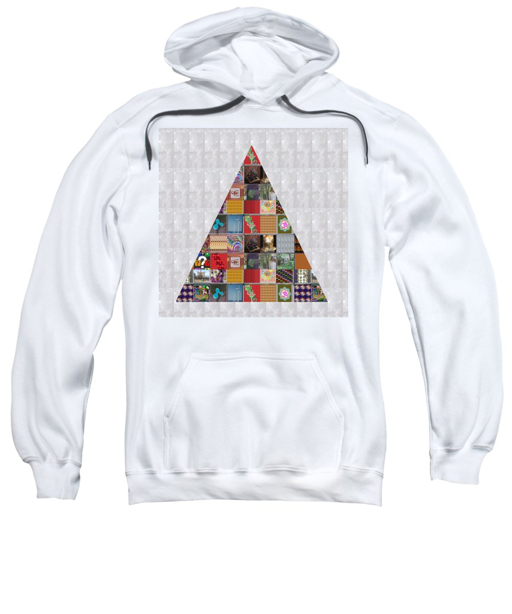 Triangel Sweatshirt featuring the painting Triangle Crystals Showcasing Navinjoshi Gallery Art Icons Buy Faa Products Or Download For Self Prin by Navin Joshi