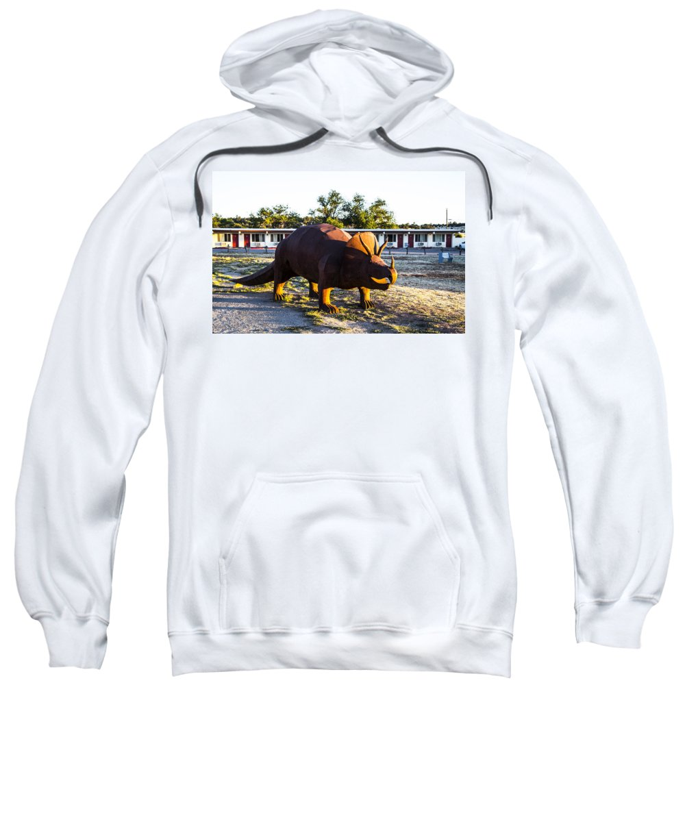 Grand Caverns Sweatshirt featuring the photograph Triceratops by Angus Hooper Iii