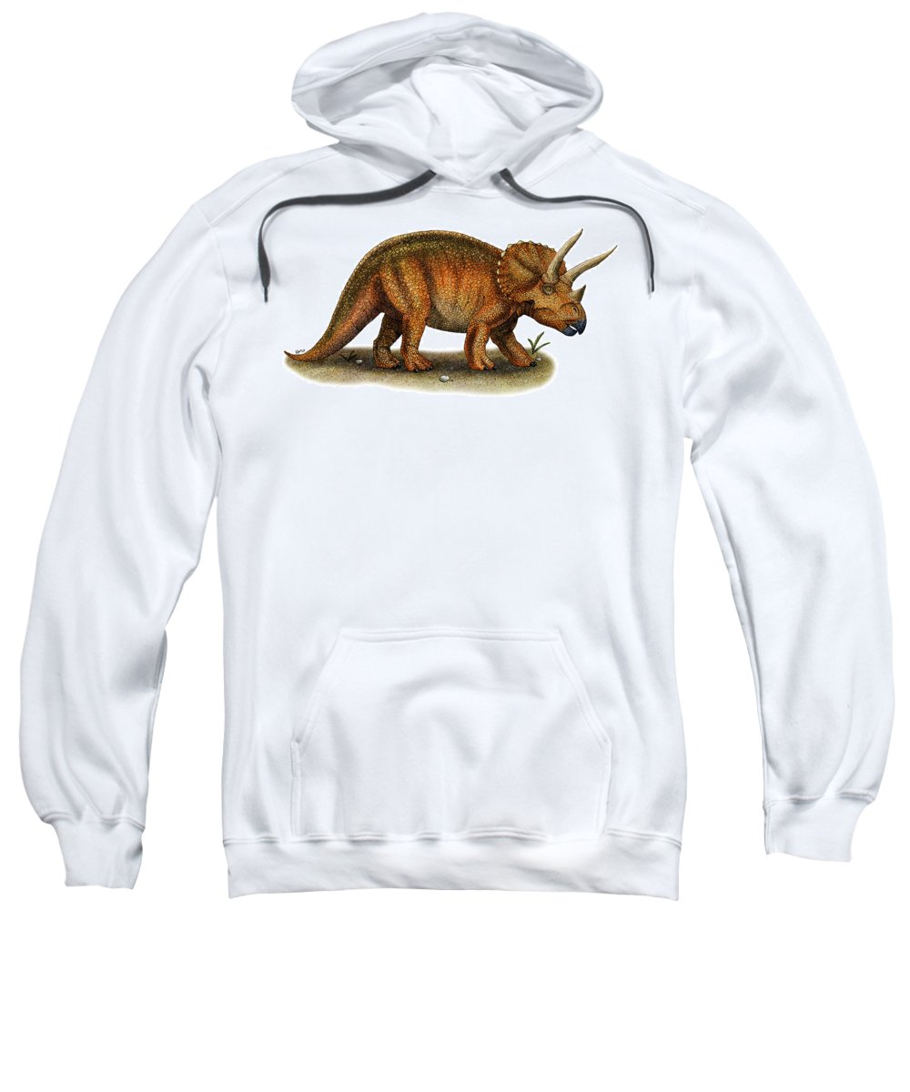 Reptile Sweatshirt featuring the photograph Triceratops by Roger Hall