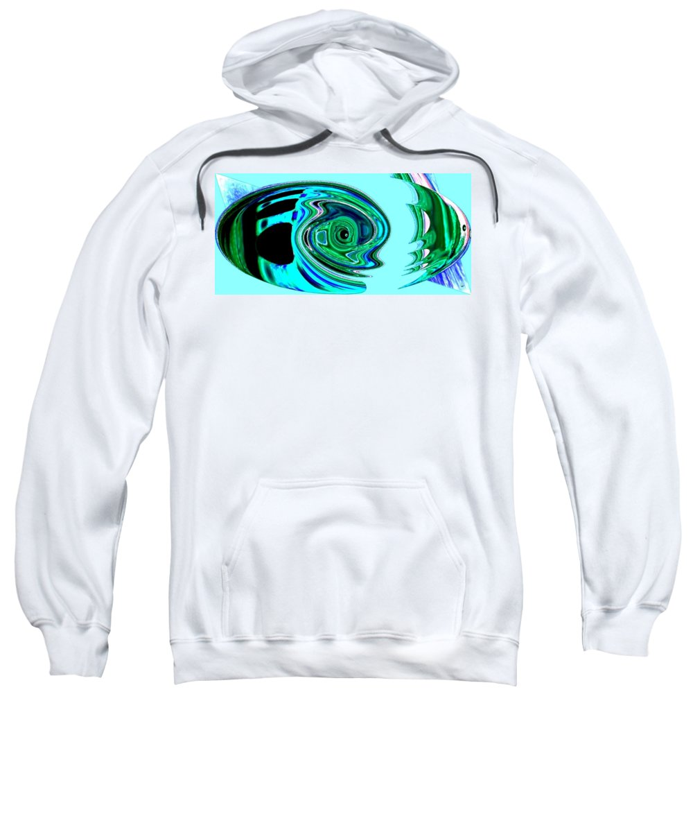 Tropical Fish Sweatshirt featuring the digital art Tropical Fish Abstract by Will Borden