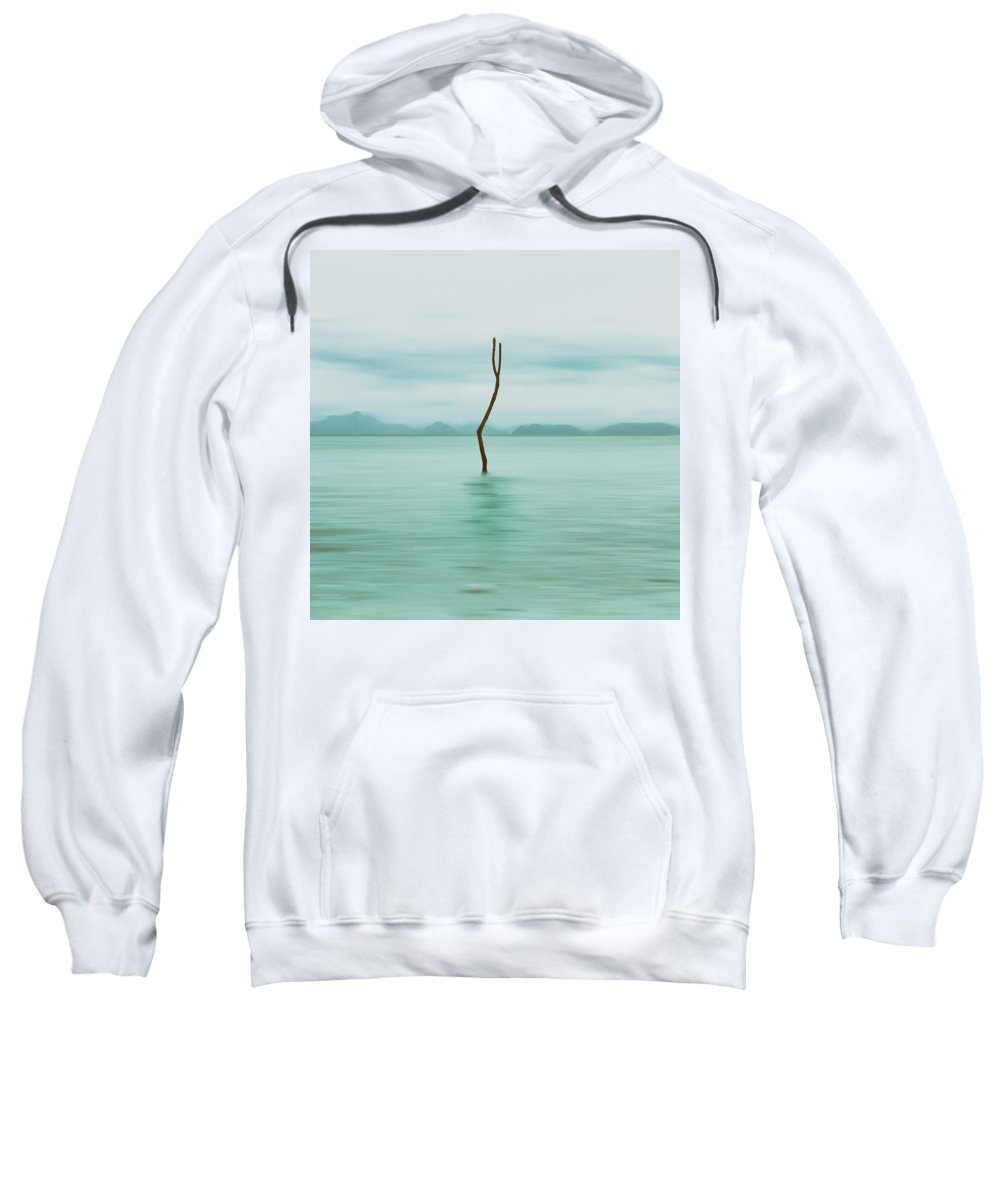 Abandoned Sweatshirt featuring the photograph Turquoise Sea by Stelios Kleanthous