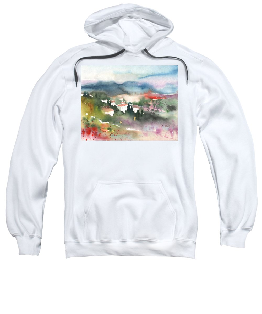 Landscapes Sweatshirt featuring the painting Tuscany Landscape 01 by Miki De Goodaboom