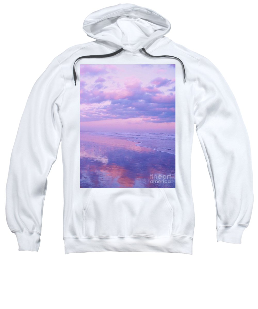 Twilight Sweatshirt featuring the photograph Twilight Reflection Cape May by Eric Schiabor