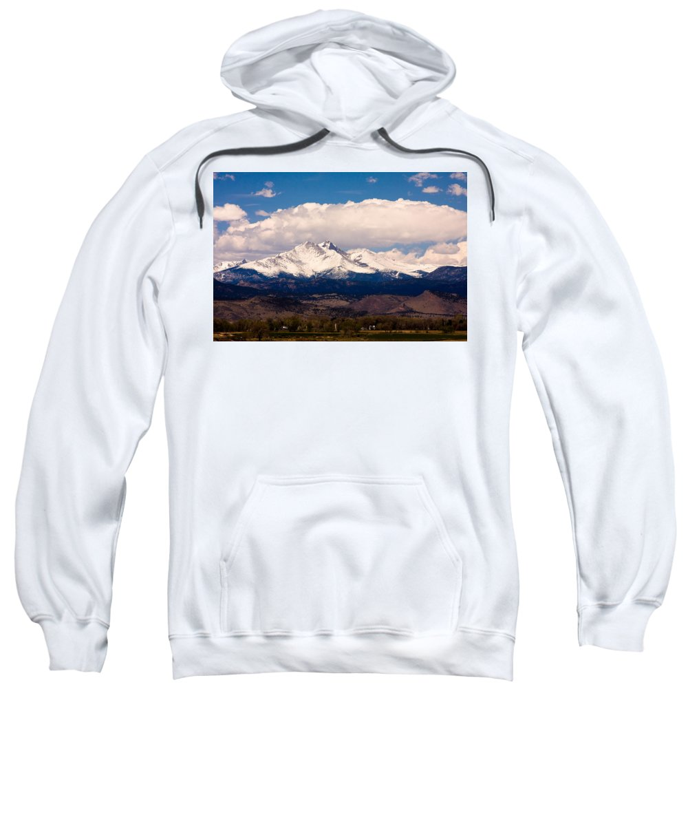 Twin Peeks Sweatshirt featuring the photograph Twin Peaks Snow Covered by James BO Insogna