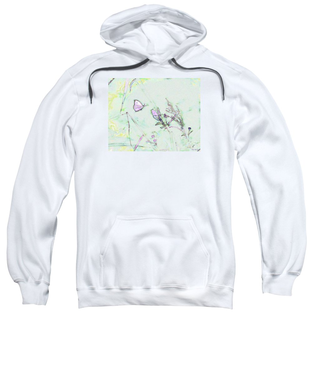 Fine Art Sweatshirt featuring the photograph Two Butterflies by Patricia Griffin Brett