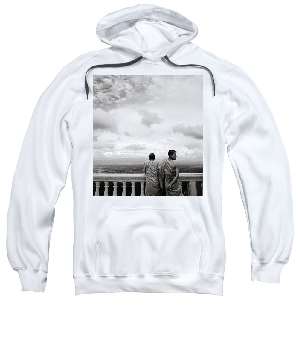 Chiang Sweatshirt featuring the photograph Two Monks by Shaun Higson