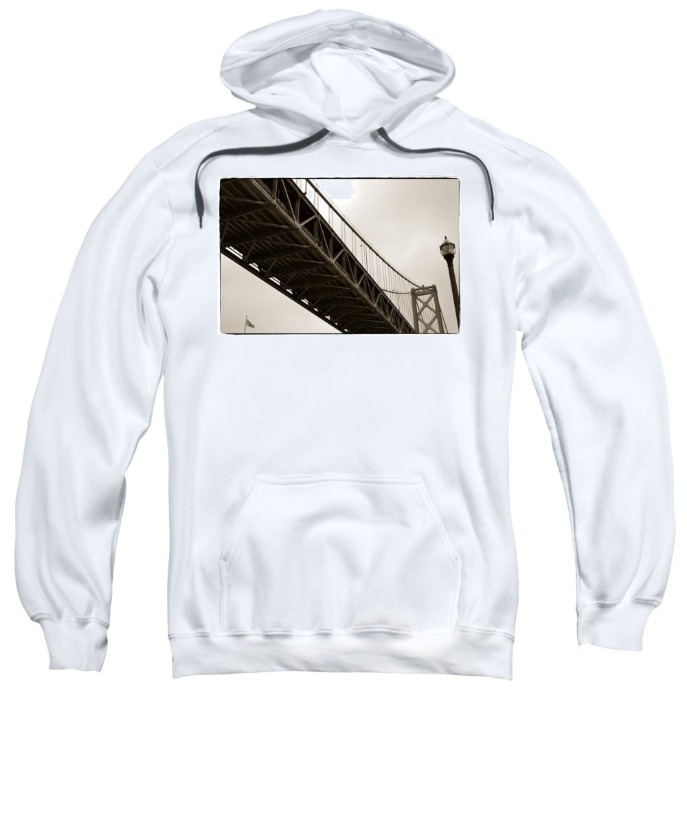 Bay Bridge Sweatshirt featuring the photograph Under The Bay Bridge by Michelle Calkins