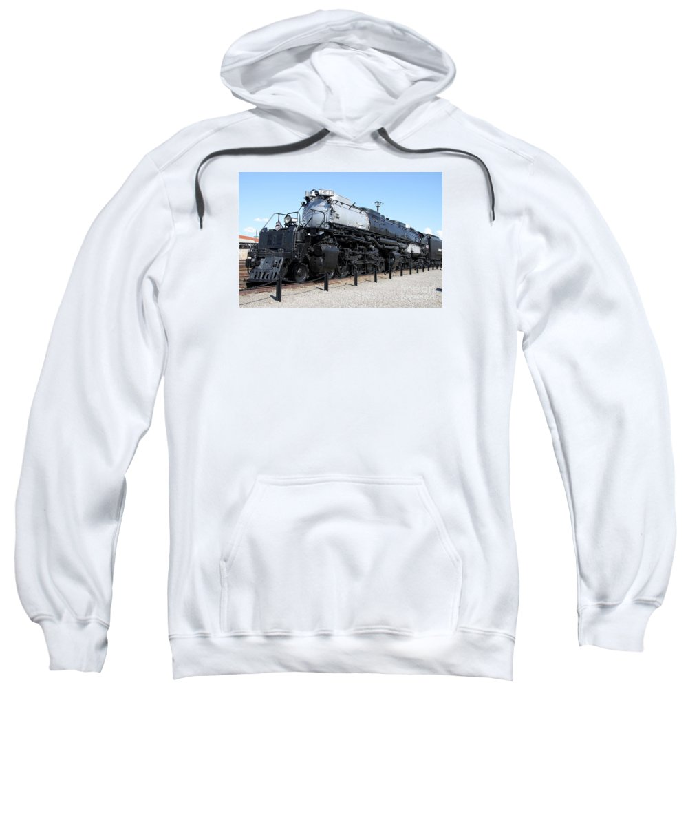 Union Pacific Big Boy Sweatshirt featuring the photograph Union Pacific Big Boy by Christiane Schulze Art And Photography