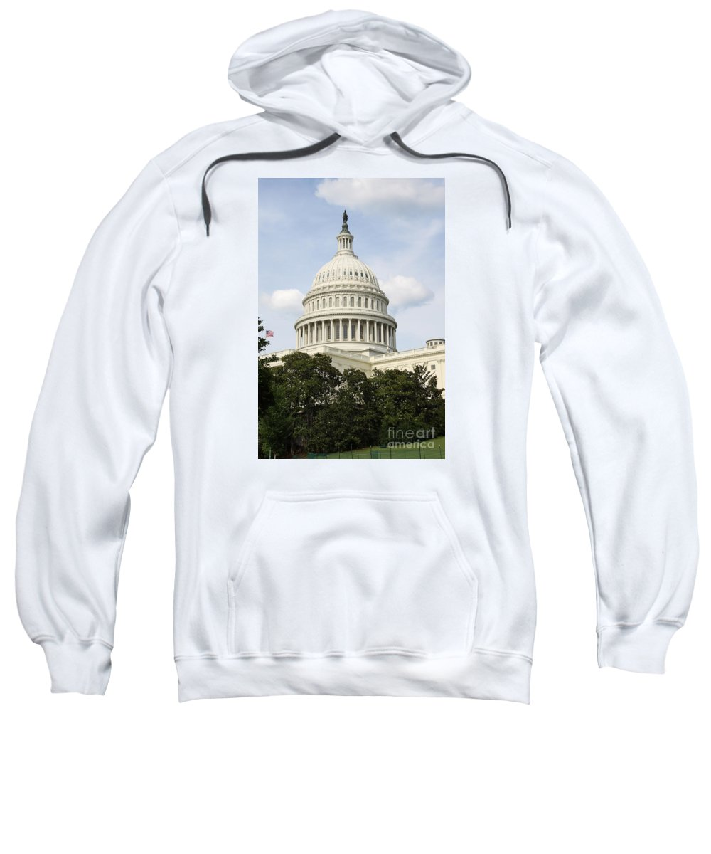 Capitol Sweatshirt featuring the photograph United State Capitol Dome Washington Dc by Christiane Schulze Art And Photography