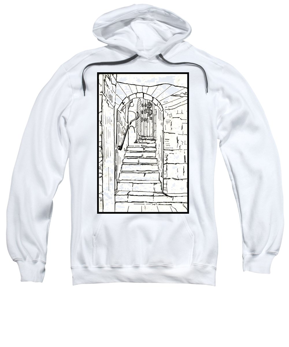Bricks Sweatshirt featuring the drawing Untitled 2 by Xueling Zou