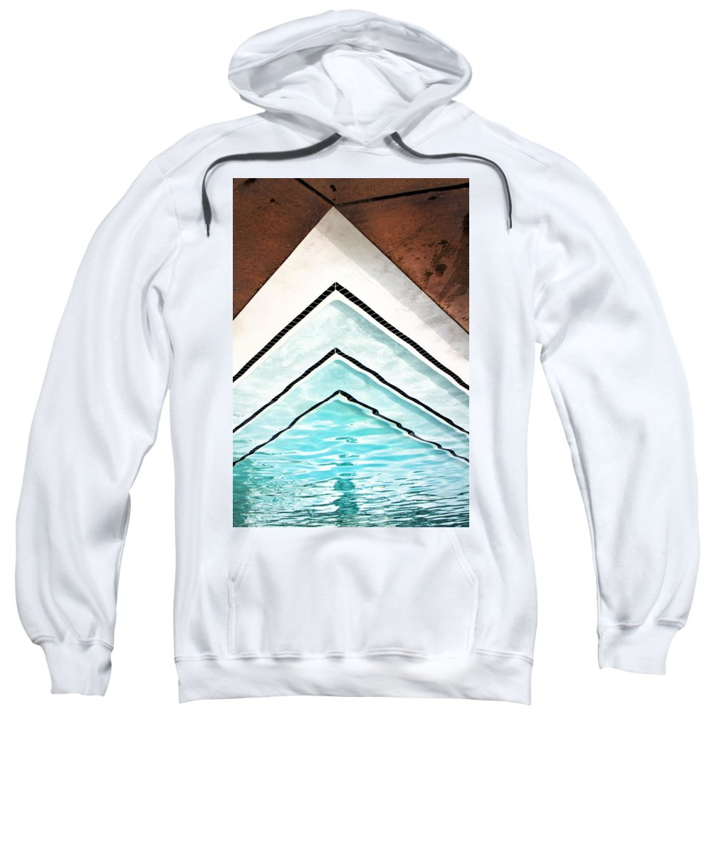 V Sweatshirt featuring the photograph Upward Pool Palm Springs by William Dey