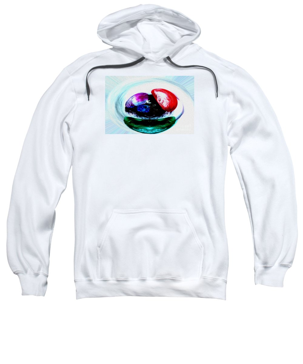 Abstract Sweatshirt featuring the photograph Vegetables And Gemstones by Nina Silver