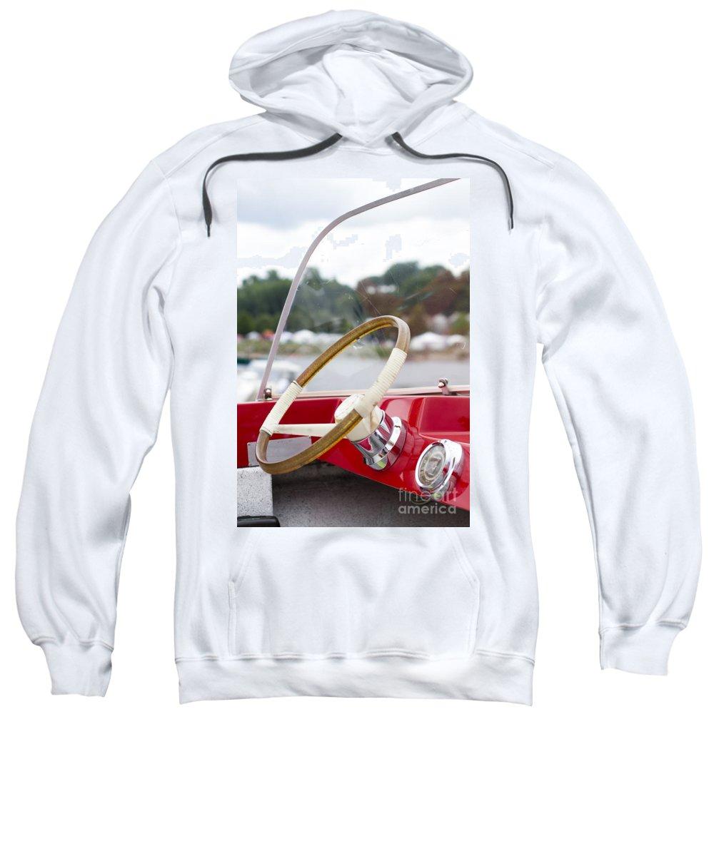 Sweatshirt featuring the photograph Vermont Boat Docked by Sara Schroeder