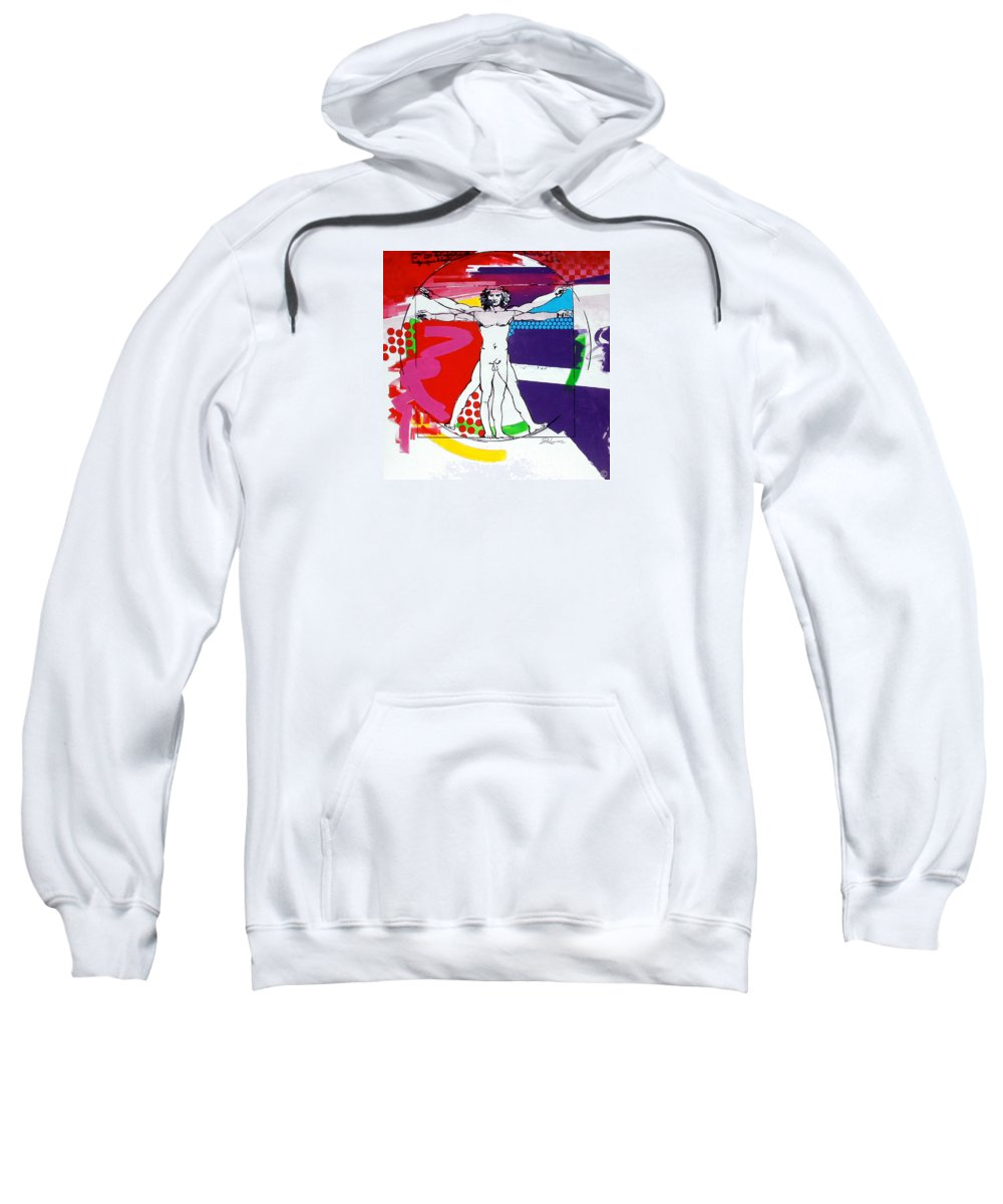Classic Sweatshirt featuring the painting Vetruvian by Jean Pierre Rousselet