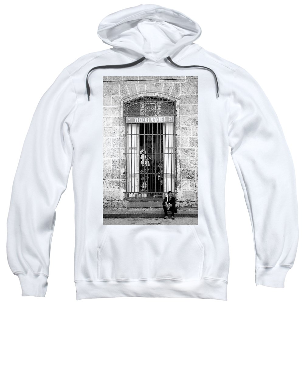 Victor Sweatshirt featuring the photograph Victor's Not Here by Valentino Visentini