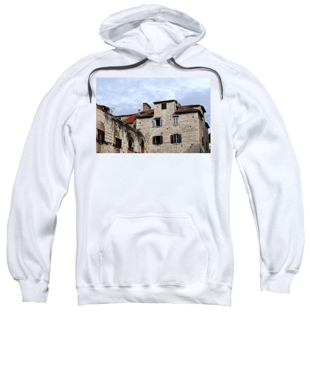 Split Croatia Sweatshirt featuring the photograph Vies Of Split Croatia by Richard Rosenshein