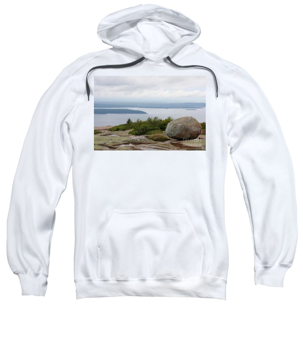 Rocky Coast Sweatshirt featuring the photograph View From Cadillac Mountain by Christiane Schulze Art And Photography