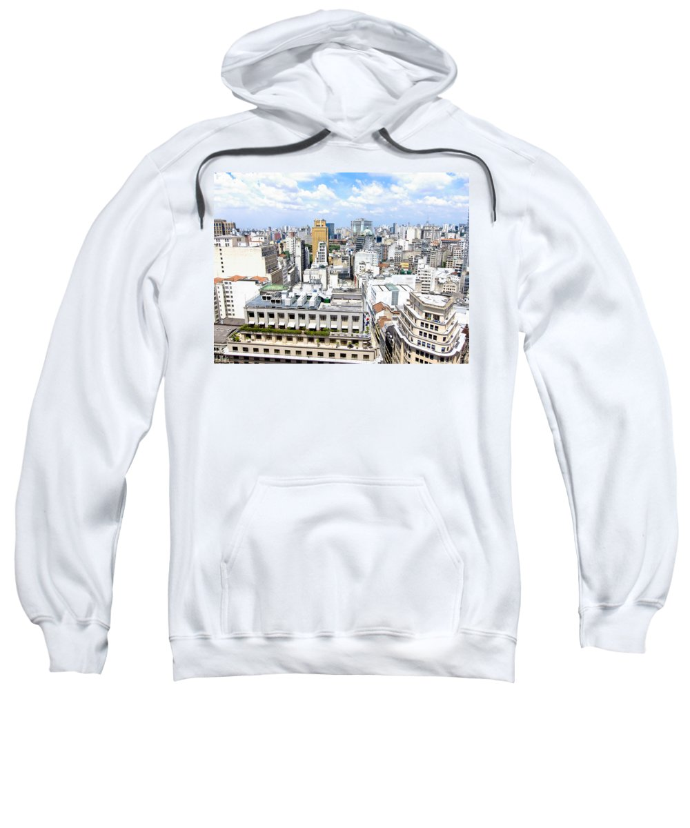 Edificio Martinelli Sweatshirt featuring the photograph View From Edificio Martinelli - Sao Paulo by Julie Niemela