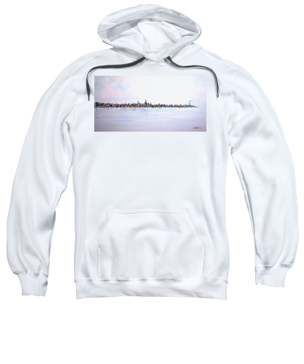 Jack Diamond Art Sweatshirt featuring the painting View From The Hudson by Jack Diamond