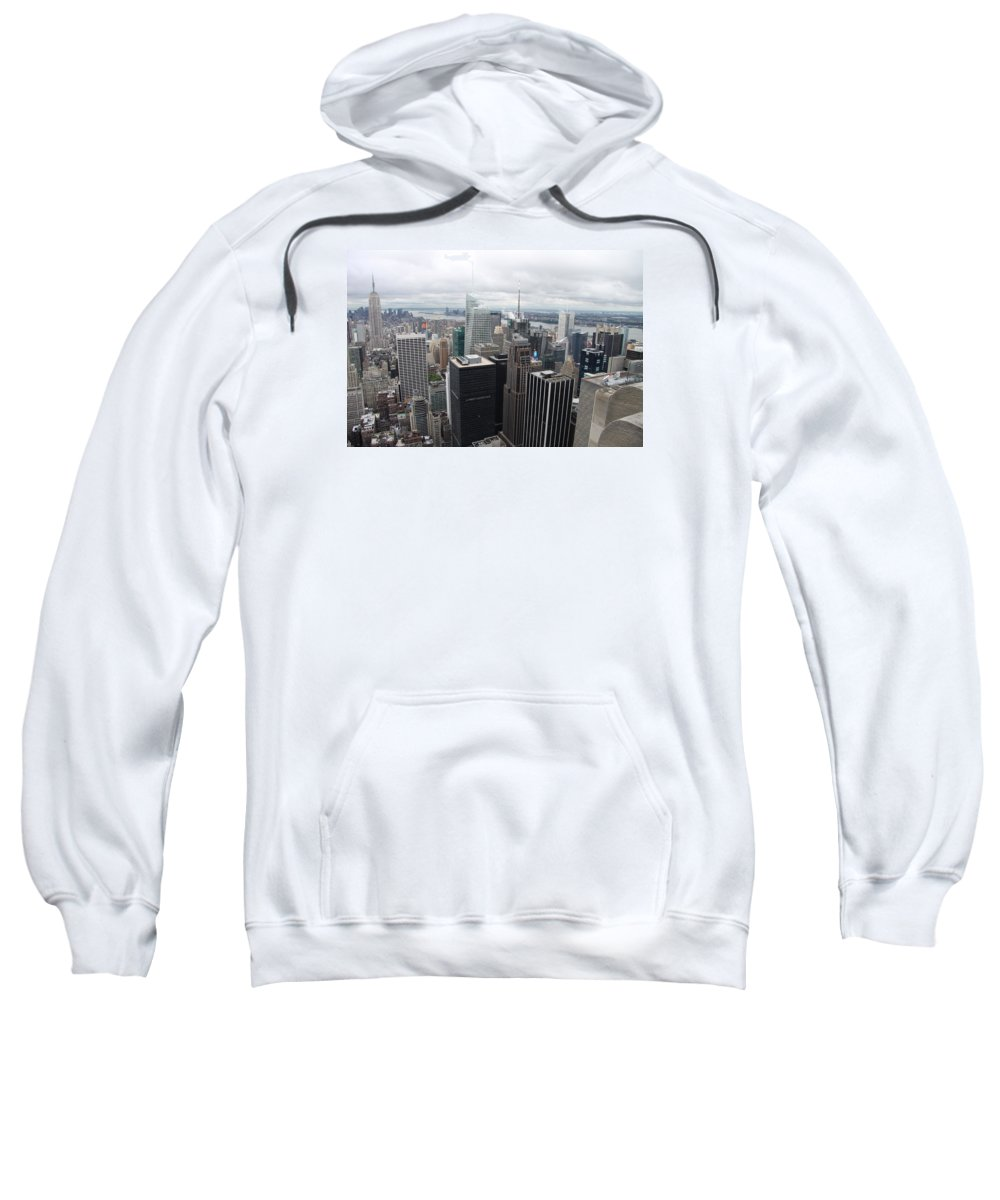 Skyline Sweatshirt featuring the photograph View Over Manhattan by Christiane Schulze Art And Photography