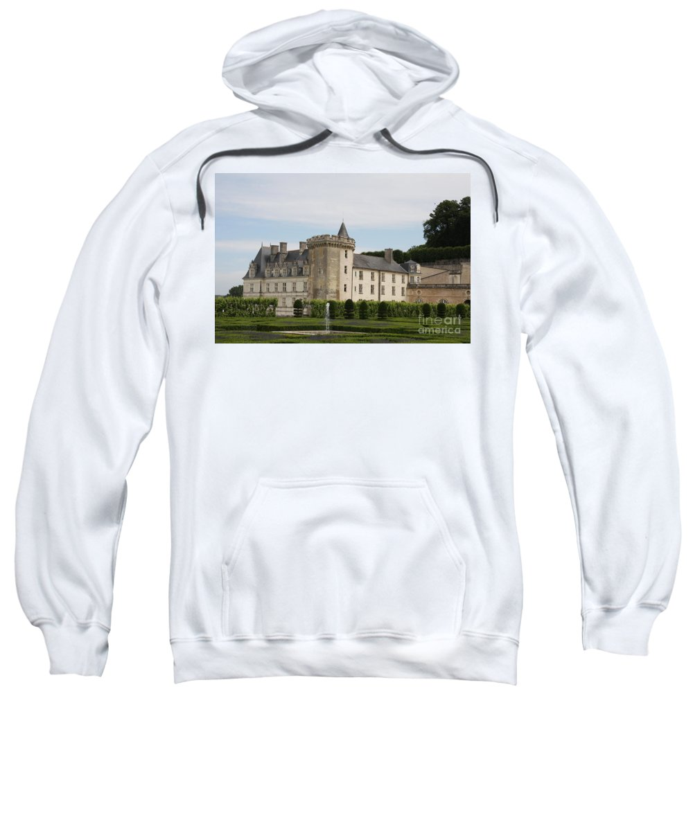 Palace Sweatshirt featuring the photograph Villandry Chateau And Boxwood Garden by Christiane Schulze Art And Photography