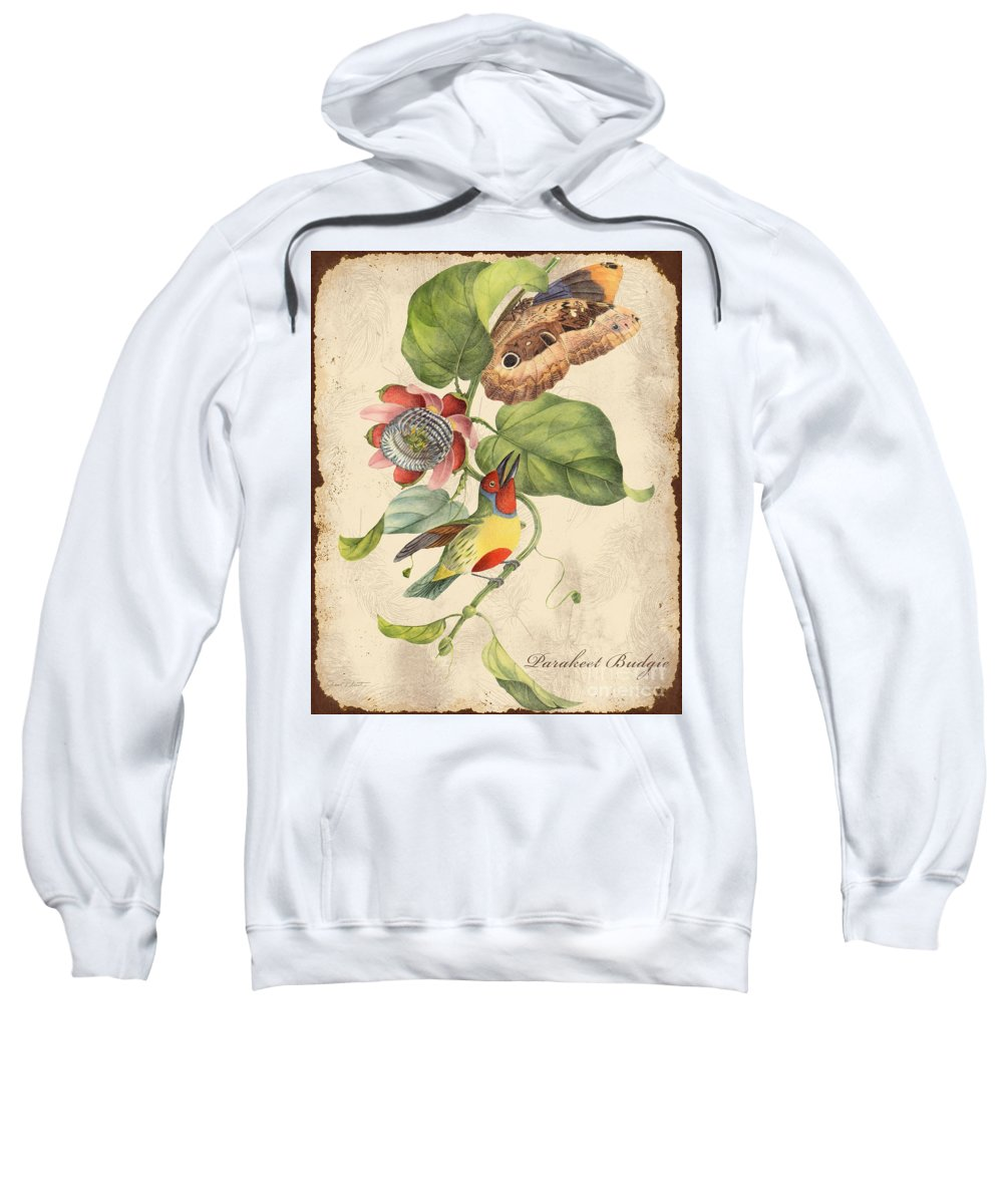 Digital Art Sweatshirt featuring the digital art Vintage Bird Study-b by Jean Plout