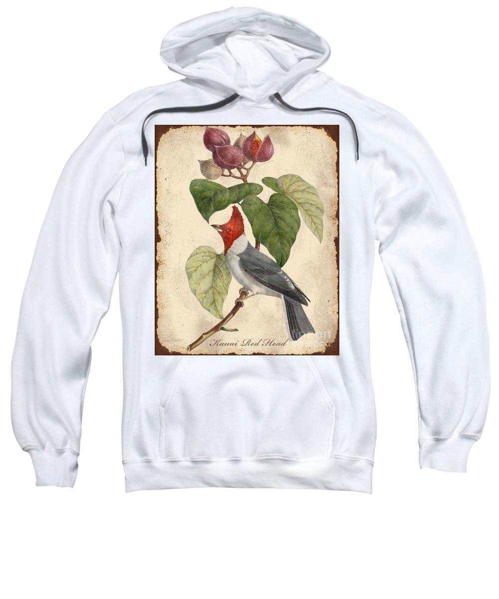 Digital Art Sweatshirt featuring the digital art Vintage Bird Study-d by Jean Plout