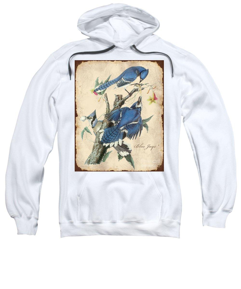 Digital Art Sweatshirt featuring the digital art Vintage Bird Study-f by Jean Plout