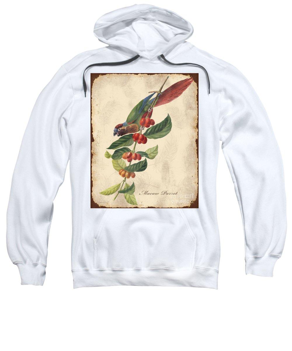 Digital Art Sweatshirt featuring the digital art Vintage Bird Study-h by Jean Plout
