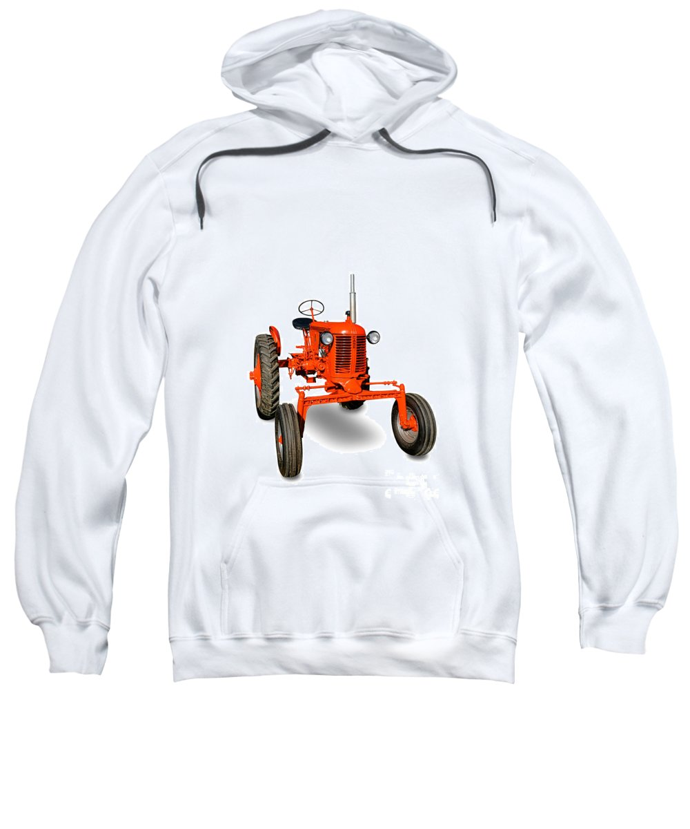 Case Sweatshirt featuring the photograph Vintage Case Tractor by Olivier Le Queinec