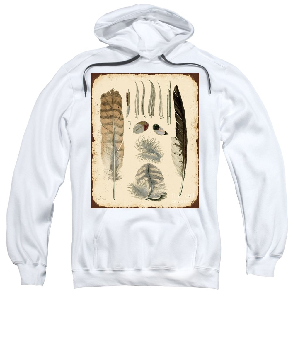 Digital Art Sweatshirt featuring the digital art Vintage Feather Study-a by Jean Plout