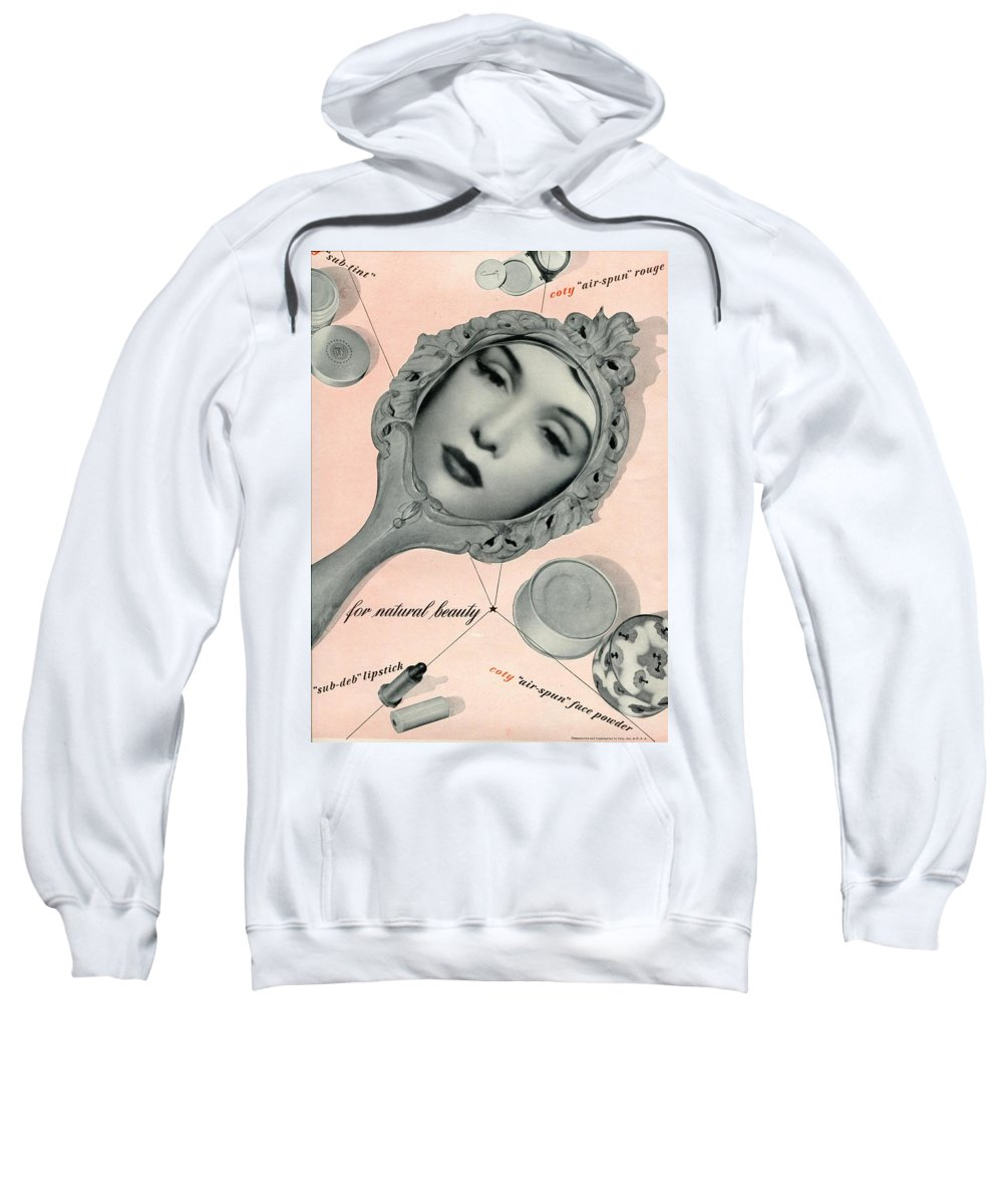 Ad Sweatshirt featuring the photograph Vintage Make Up Advert by Georgia Fowler