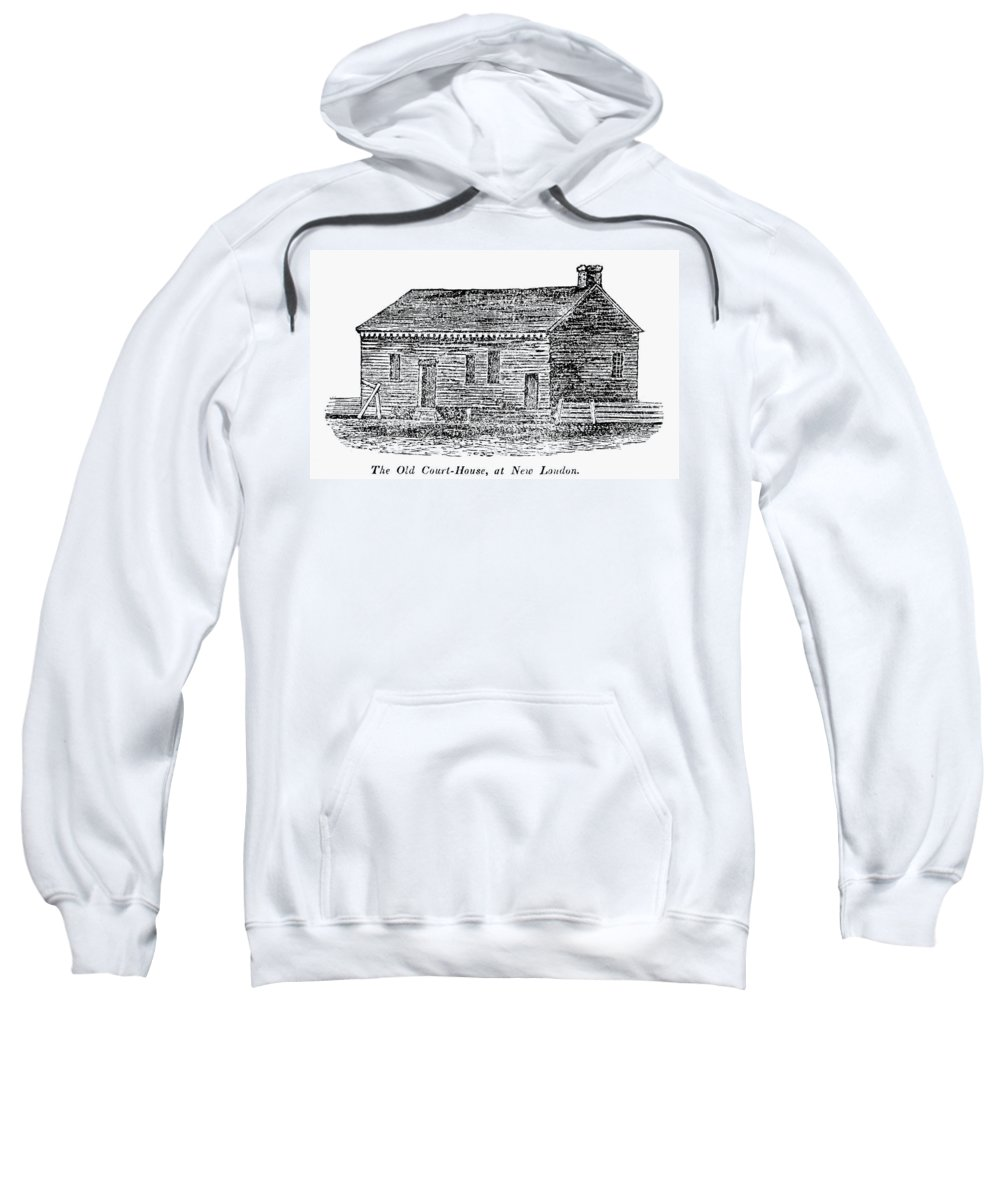 18th Century Sweatshirt featuring the painting Virginia Court House by Granger