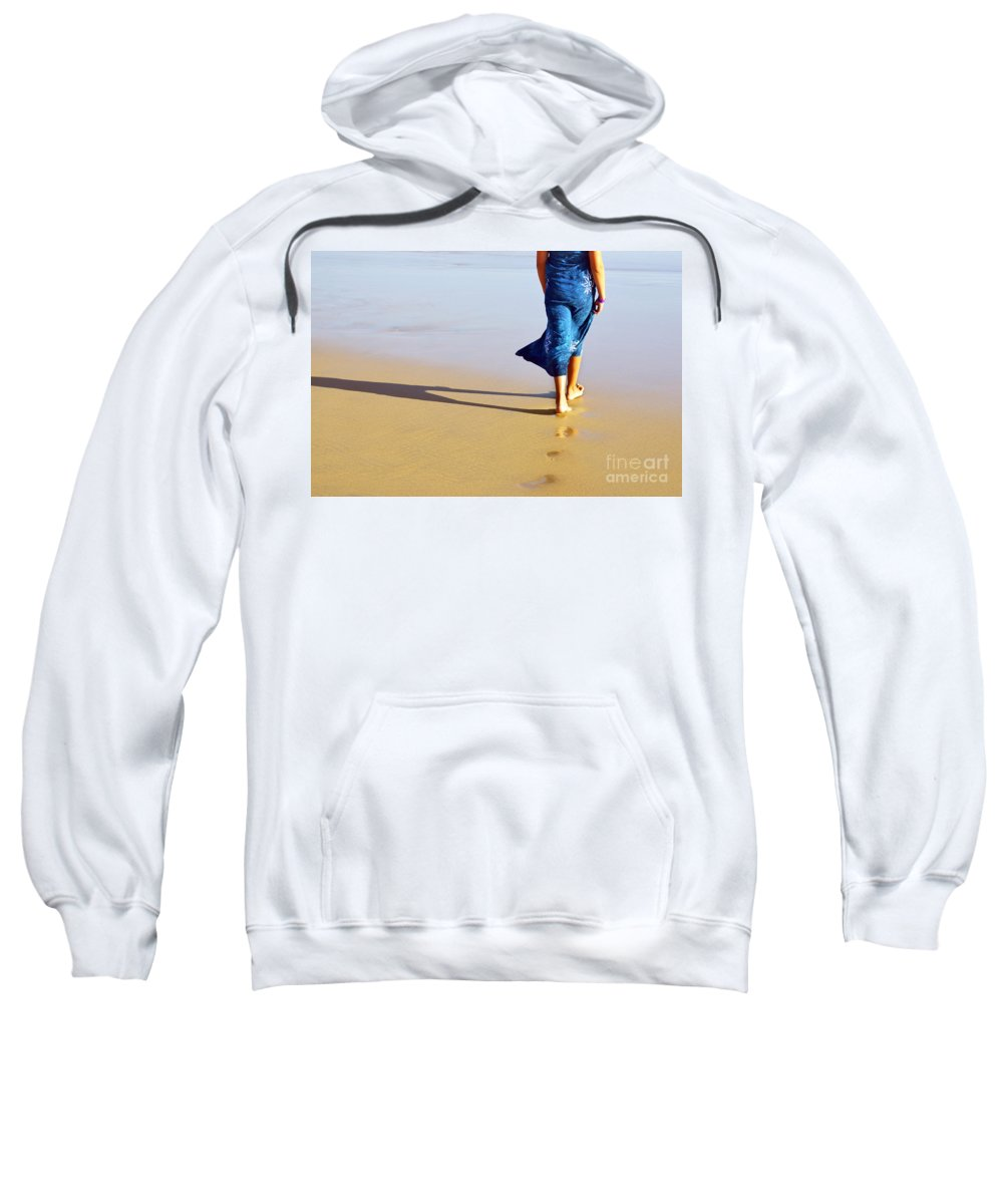 Activity Sweatshirt featuring the photograph Walking On The Beach by Carlos Caetano
