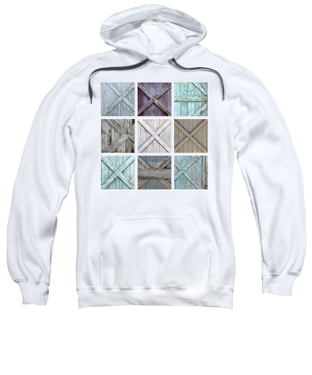 Garage Sweatshirt featuring the photograph Weathered Paint by Art Block Collections