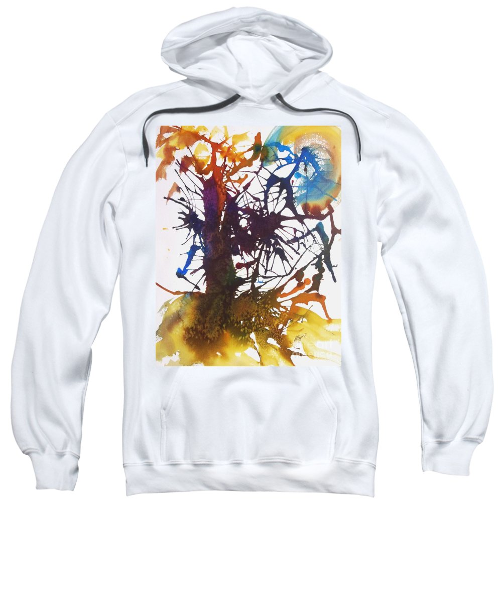 Web Of Life Sweatshirt featuring the painting Web Of Life by Ellen Levinson