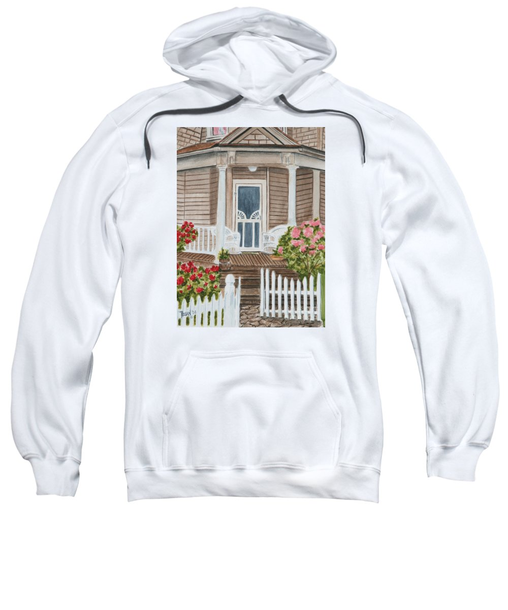 Architecture Sweatshirt featuring the painting Welcome by Regan J Smith