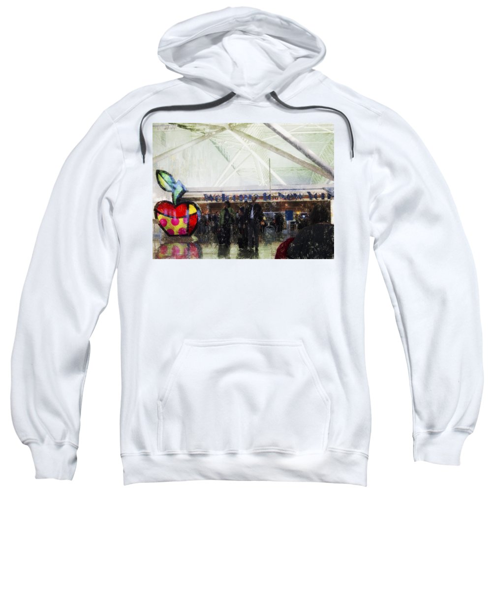 Welcome To New York Sweatshirt featuring the photograph Welcome To New York by Douglas Barnard