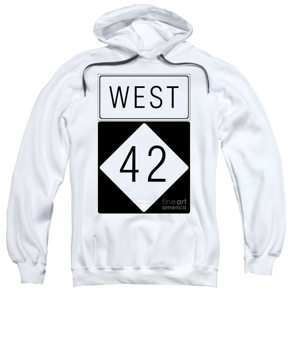 Feature Sweatshirt featuring the digital art West Nc 42 by Paulette B Wright