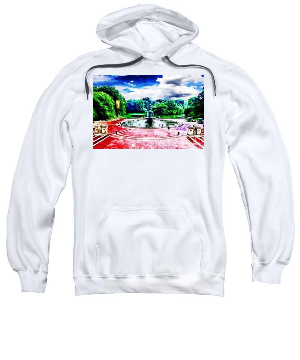 New York Landmarks Sweatshirt featuring the photograph Wet Paint - Don't Touch by Nishanth Gopinathan