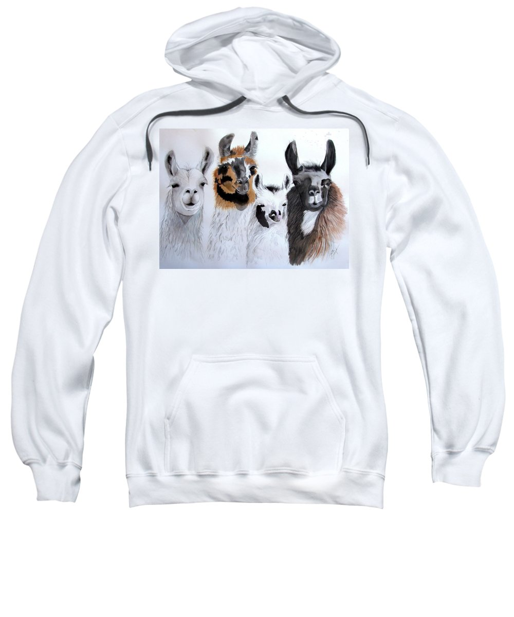 Animal Prints Sweatshirt featuring the painting What Is Up by Joette Snyder