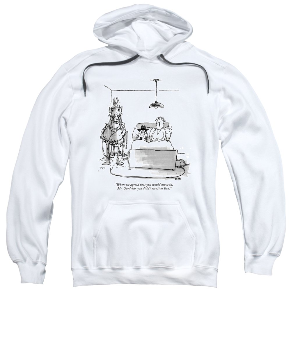 Horses - General Sweatshirt featuring the drawing When We Agreed That You Would Move by George Booth