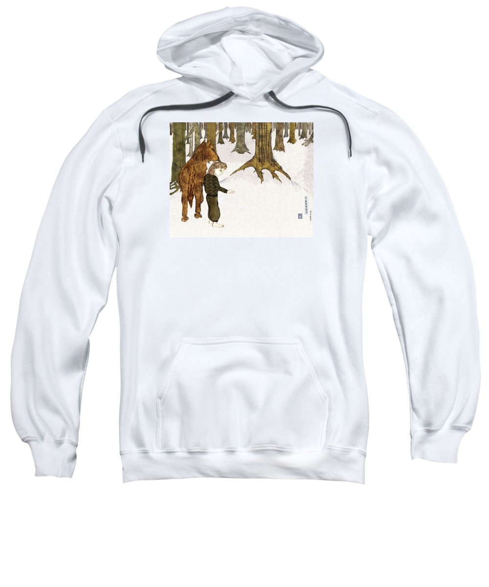 Trees Sweatshirt featuring the mixed media Where Are You by Cynthia Richards