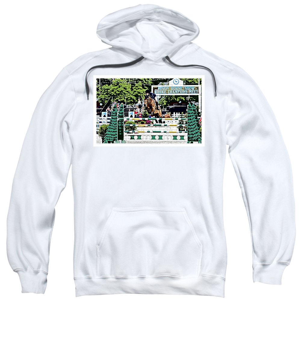 Devon Horse Show Pennsylvania Jumpers Hunters Horses Sweatshirt featuring the photograph Where Champions Meet by Alice Gipson