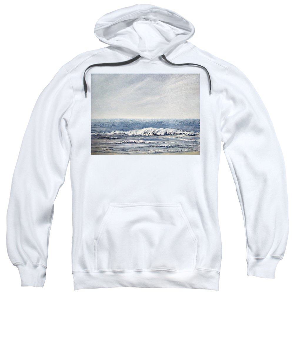 Seascape Sweatshirt featuring the painting Where I Want To Be by Todd Blanchard