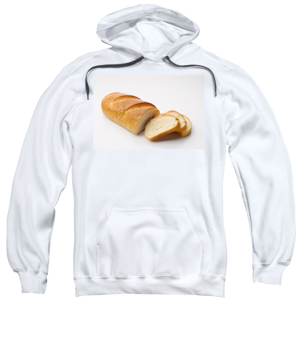 Background Sweatshirt featuring the photograph White Bread With Slices by Alain De Maximy